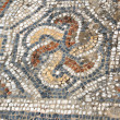 Detail of geometric mosaic walk — Stock Photo #48526033