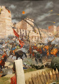 Final assault and the fall of Constantinople in 1453 — Stock Photo