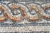 Detail of geometric mosaic walk — Stock Photo