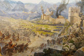 Huns attack the Great Wall of China — ストック写真