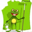 Frog painter — Stock Vector