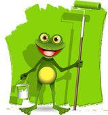 Frog painter — Stock Vector