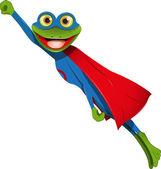 Frog superman — Stock Vector