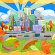 Royalty-Free Stock Immagine Vettoriale: Autumn city