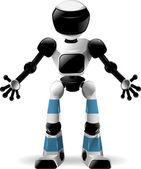 Robot z czarnego szkła — Wektor stockowy