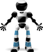 Robot with black glass — Stock Vector