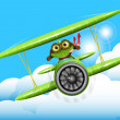 Frog pilot - Stock Vector