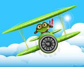 Frog pilot — Stock Vector