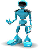 Kunststoff-roboter — Stockvektor
