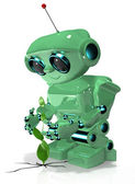 Green robot — Stock Photo