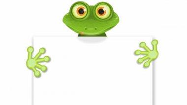 Wesoły zielony żaba — Wideo stockowe