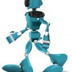 Walking robot — Stock Vector