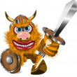 Aggressive viking — Stock Vector
