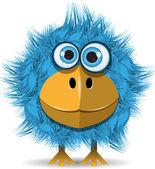 Funny blue bird — Stock Vector