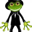 Stock Vector: Frog in top hat