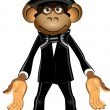 Stock Vector: Monkey in top hat
