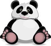 Cute fat panda — Stock Vector