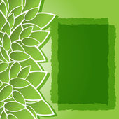 Green background with leaves — Stockvektor