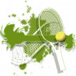 Tennis background — Stock Vector