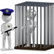 Cop and prisoner — Stock Photo #37274617