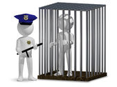 Cop and prisoner — Stock Photo
