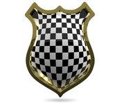 Chess shield — 图库照片