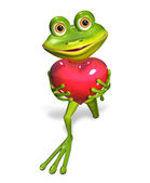 Frog with heart — Photo