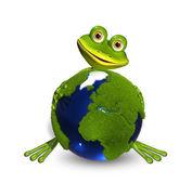 Groda och globe — Stockfoto