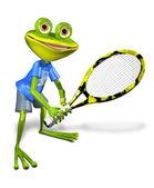 Frog tennis — 图库照片