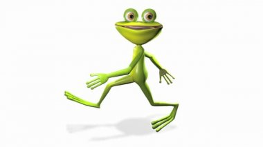 Running frog — Stock Video