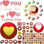 Love button set — Stock Vector #2563708