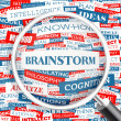 BRAINSTORM. — Stock Vector