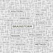 BRAINSTORM. — Stockvektor