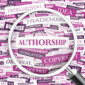 AUTHORSHIP. — Stock Vector