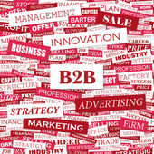 B2B. — Stock Vector