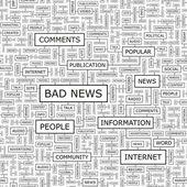 BAD NEWS. — Stock Vector