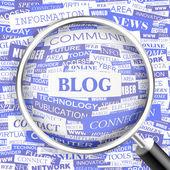 Blog. — Wektor stockowy