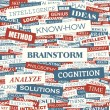 BRAINSTORM. — Stockvectorbeeld