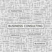 BUSINESS CONSULTING. — Vector de stock