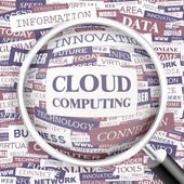 Cloud computing. — Stockvector
