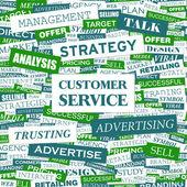 CUSTOMER SERVICE. — Stock Vector