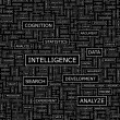 INTELLIGENCE. — Stockvectorbeeld