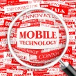 MOBILE TECHNOLOGY.  — Stockvectorbeeld