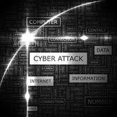Siber saldırı. — Stok Vektör