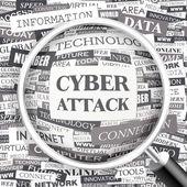 CYBER ATTACK. — Stock Vector