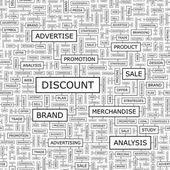 DISCOUNT. — Stock Vector
