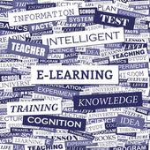 E-LEARNING. — Stock Vector