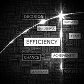 EFFICIENCY. — Stock Vector