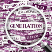 GENERATION. — Stock Vector