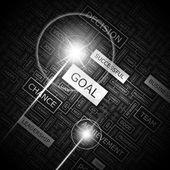 GOAL. — Stock Vector